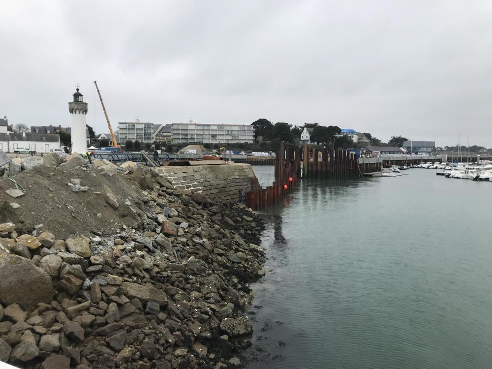 Les Travaux de rejointements du Vieux Port se terminent - Photo CDPM 191118