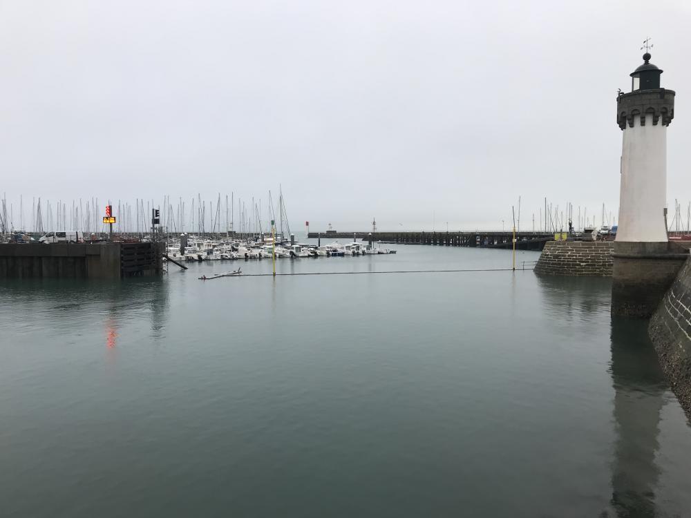 Mise en place de la signalisation lumineuse entrée bassin à flot - février 2019 - photo CPM