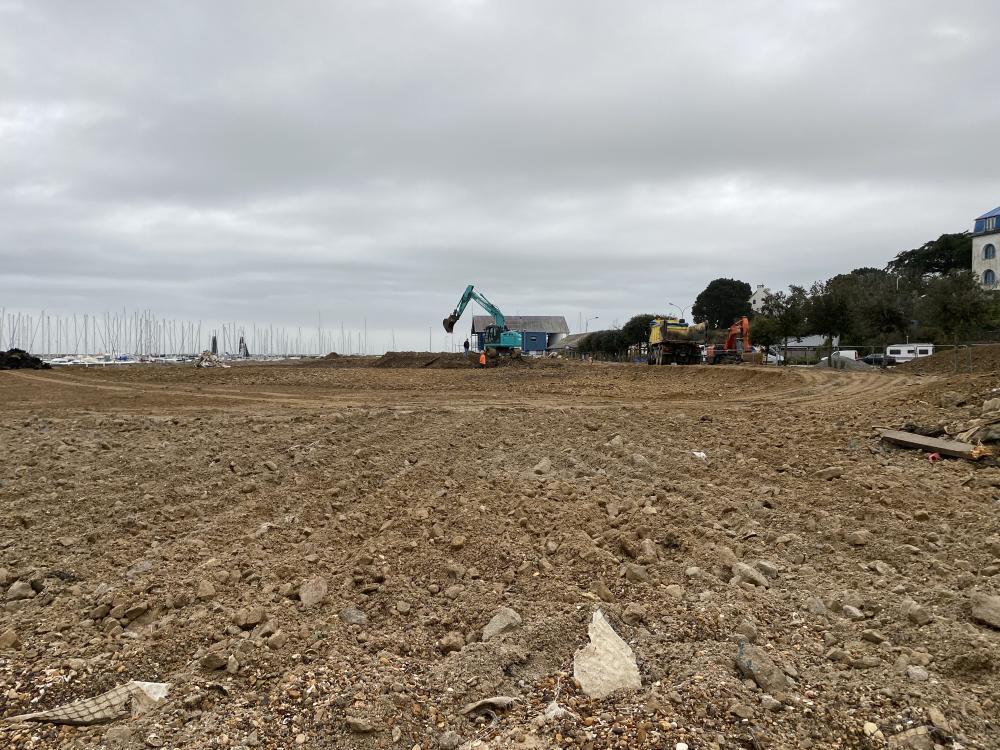FEVRIER 2021 Préparation & égalisation du terre-plein de Castéro - Photo 2 CPM