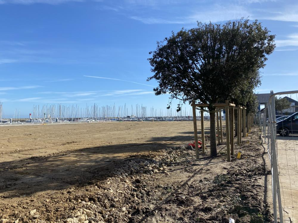 FEVRIER 2021 - Le terre-plein de Castéro en phase d'égalisation - Photo 2 CPM