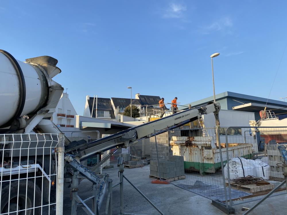 FEVRIER 2021 - La rénovation et l'extension des sanitaires du Porigo est en cours- Photo CPM